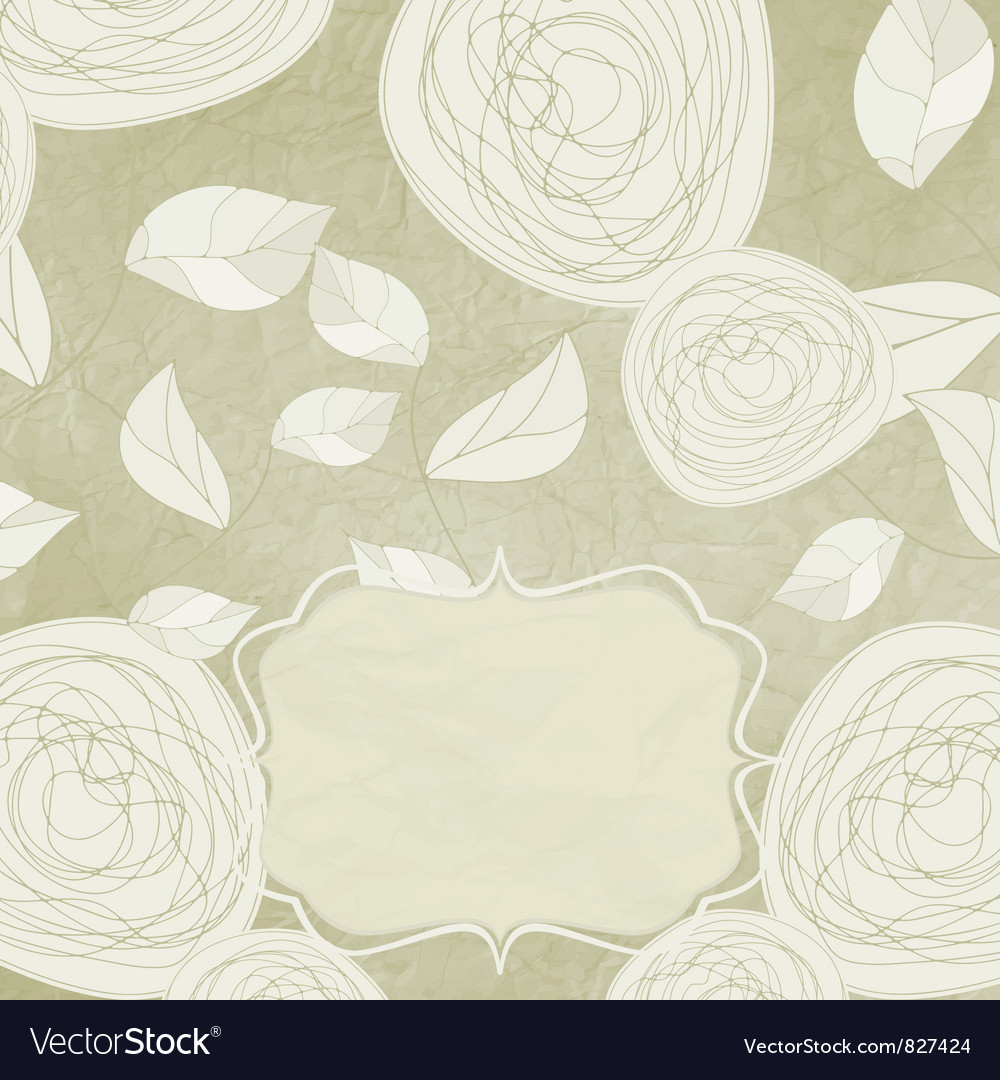 Vintage rose background vector