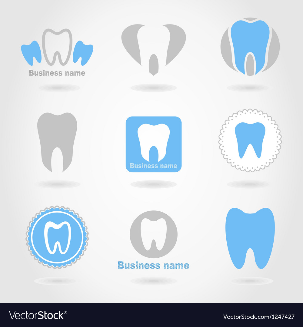 Tooth an icon vector