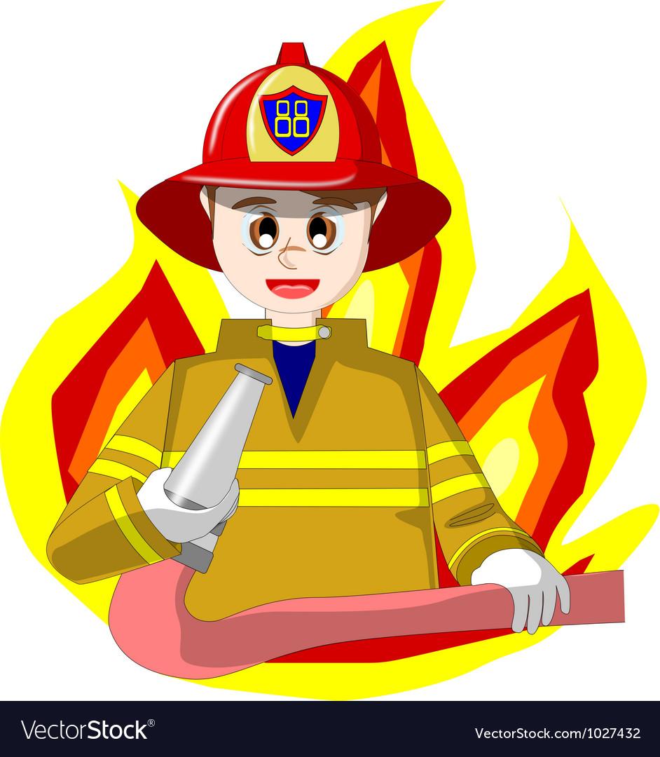 Free fireman vector