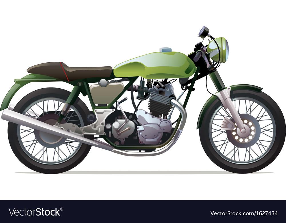 Classic racing motorcycle vector