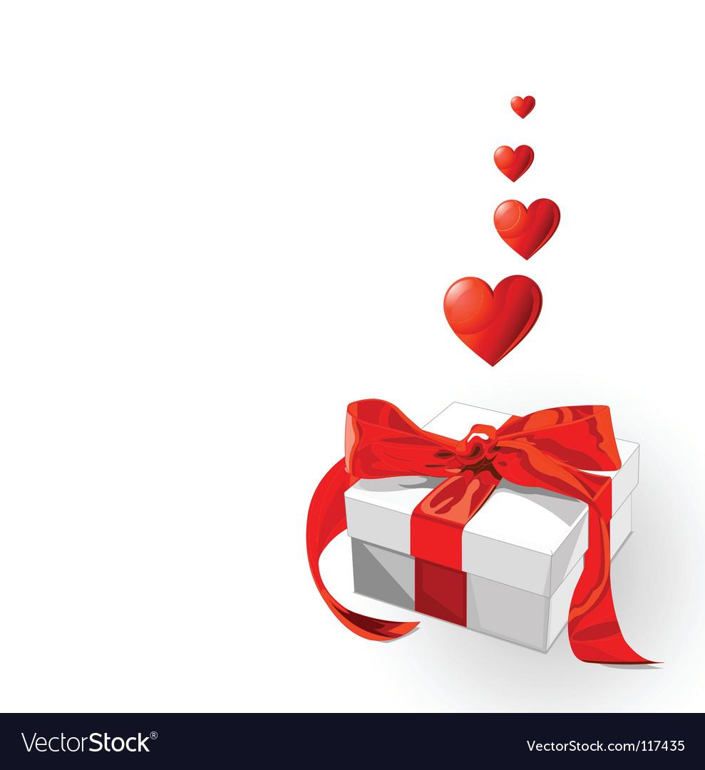 Love gift vector