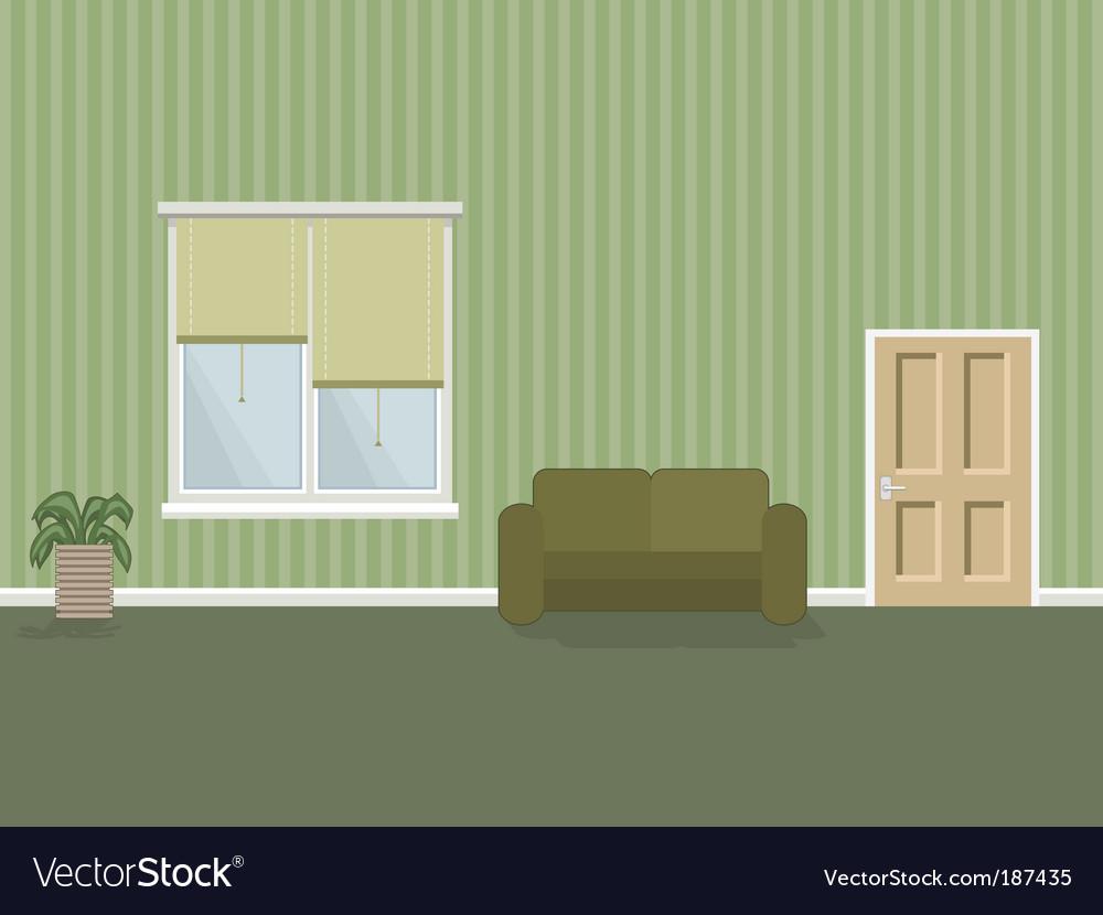 Room interior vector