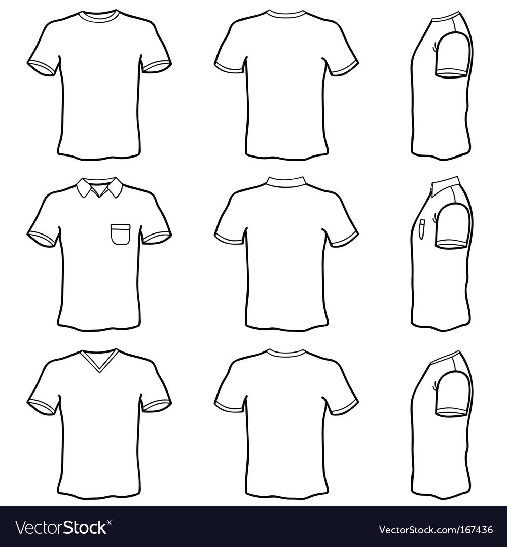 Tshirt outlines vector