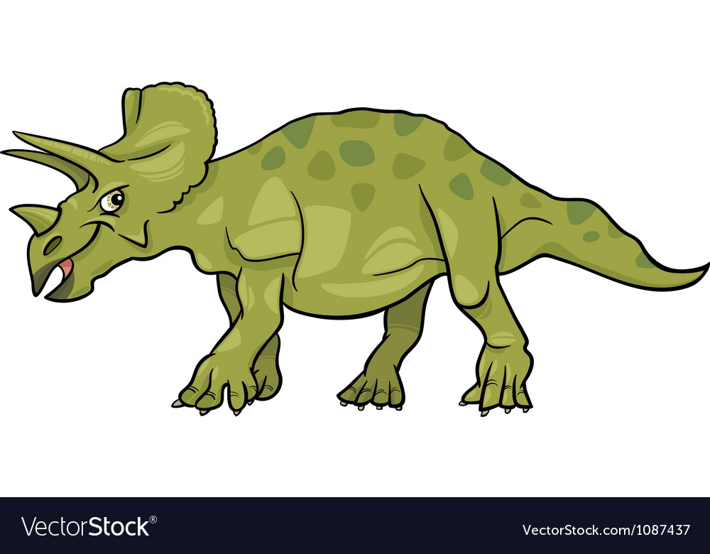 Cartoon of triceratops dinosaur vector