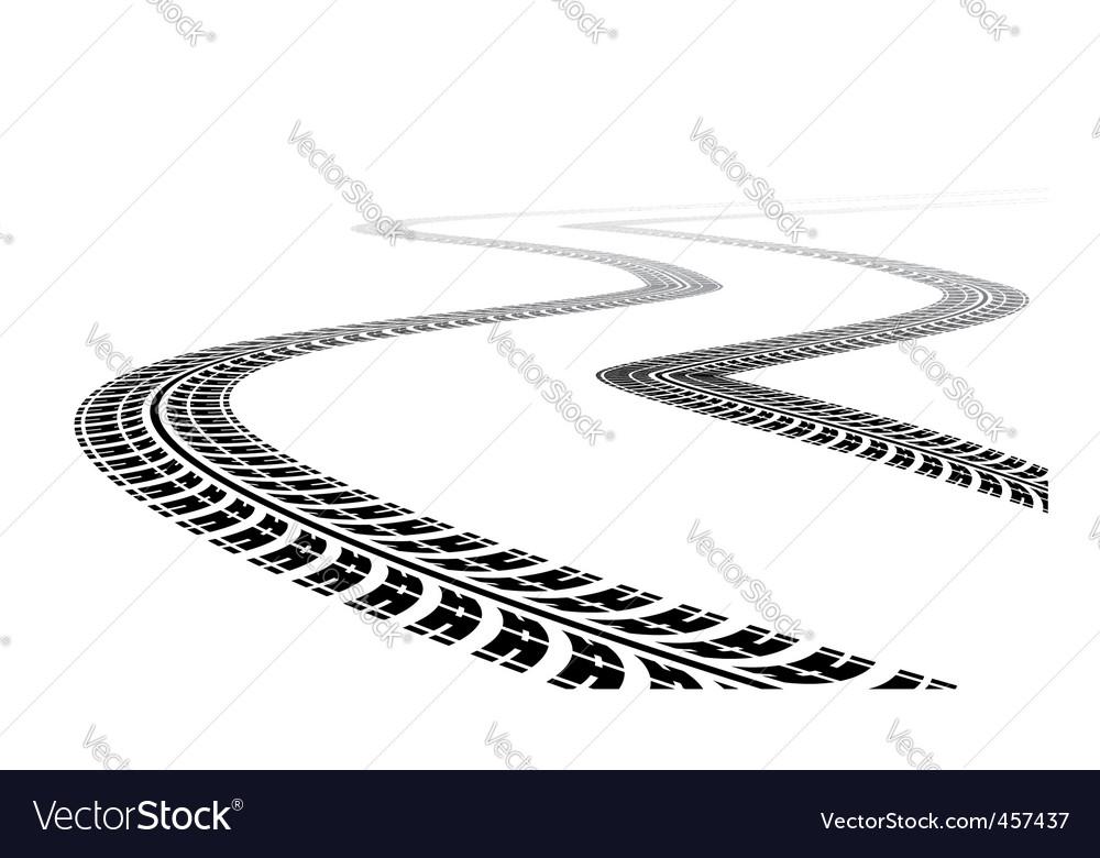 Tire tracks vector