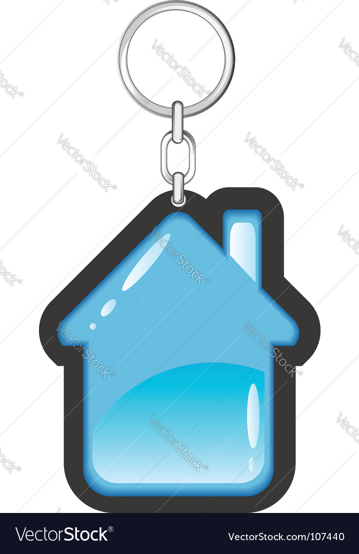 House as a key ring vector