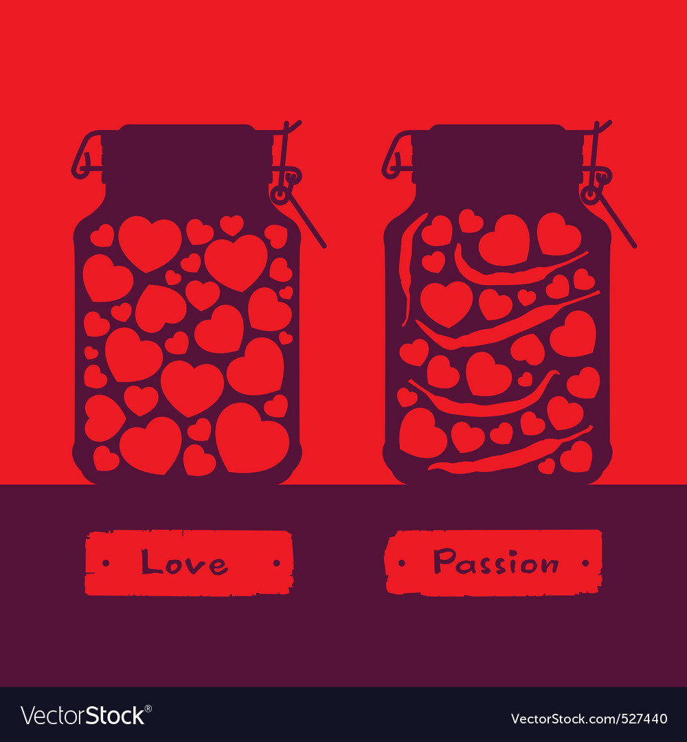 Love and passion vector