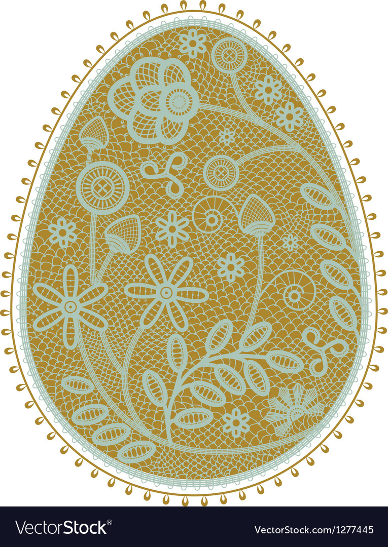 Lace egg vector