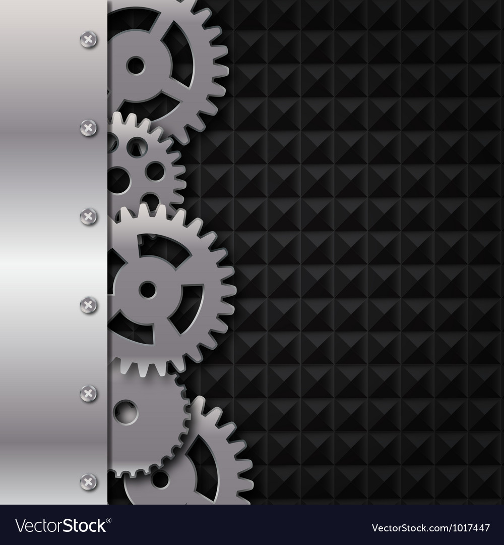 Abstract metal and glass background with frame and vector