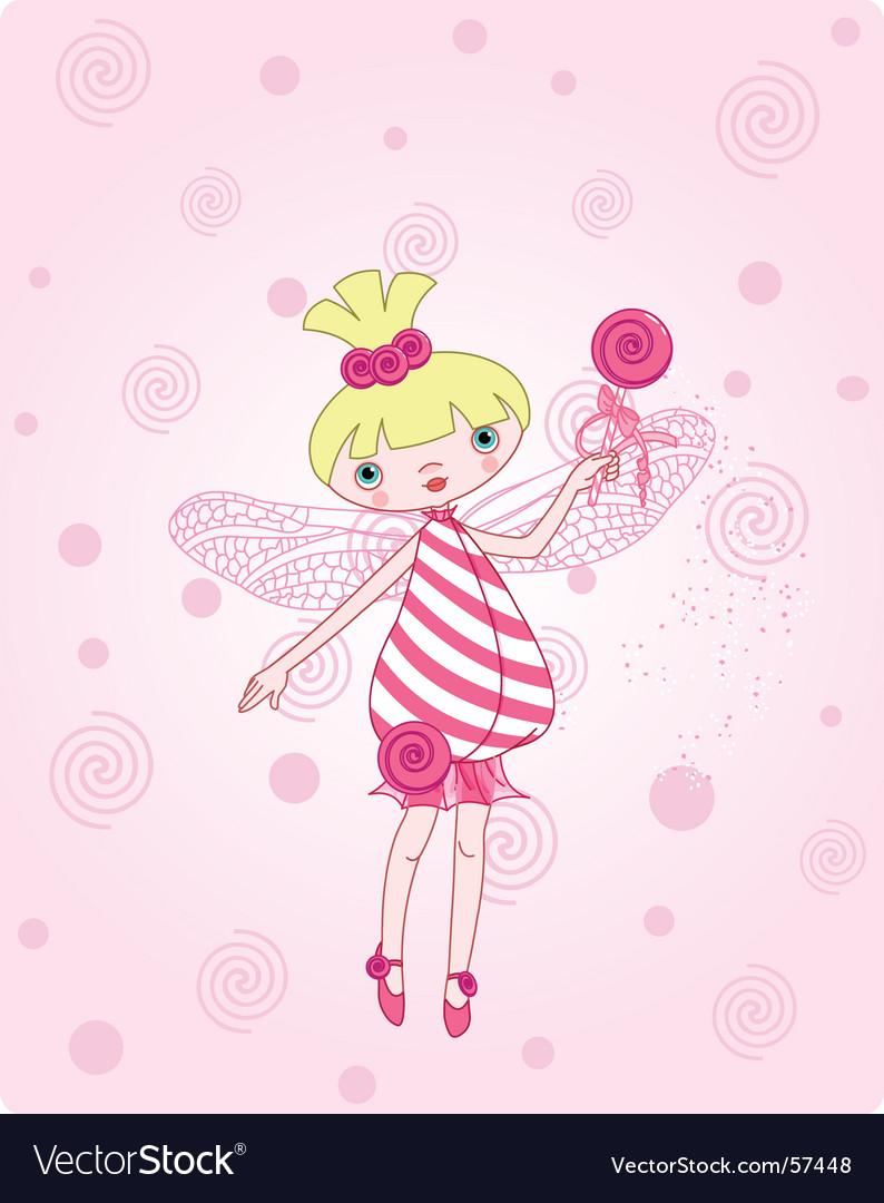 Candy fairy vector