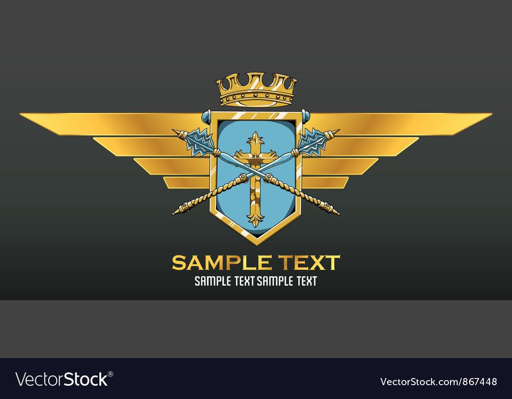 Vintage crest vector