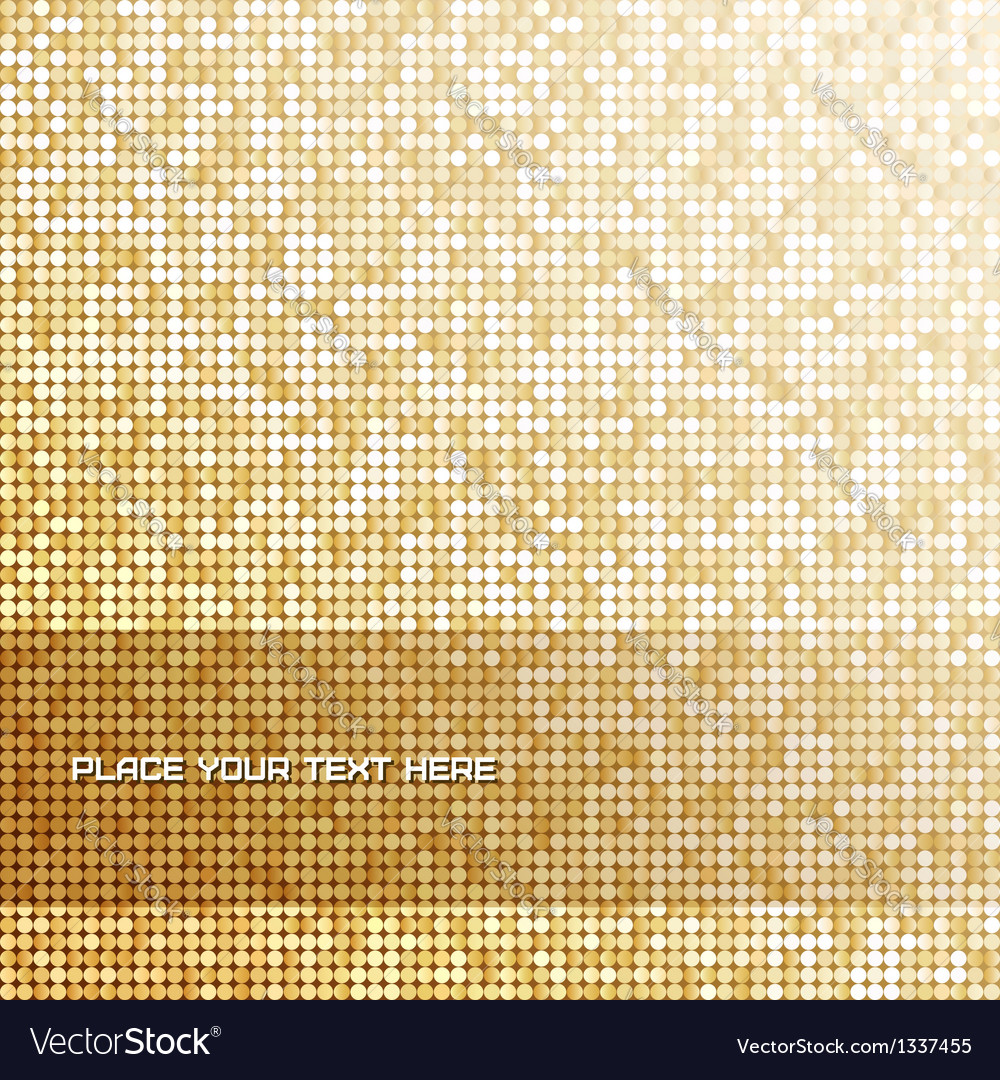 Seamless background with shiny golden paillettes vector