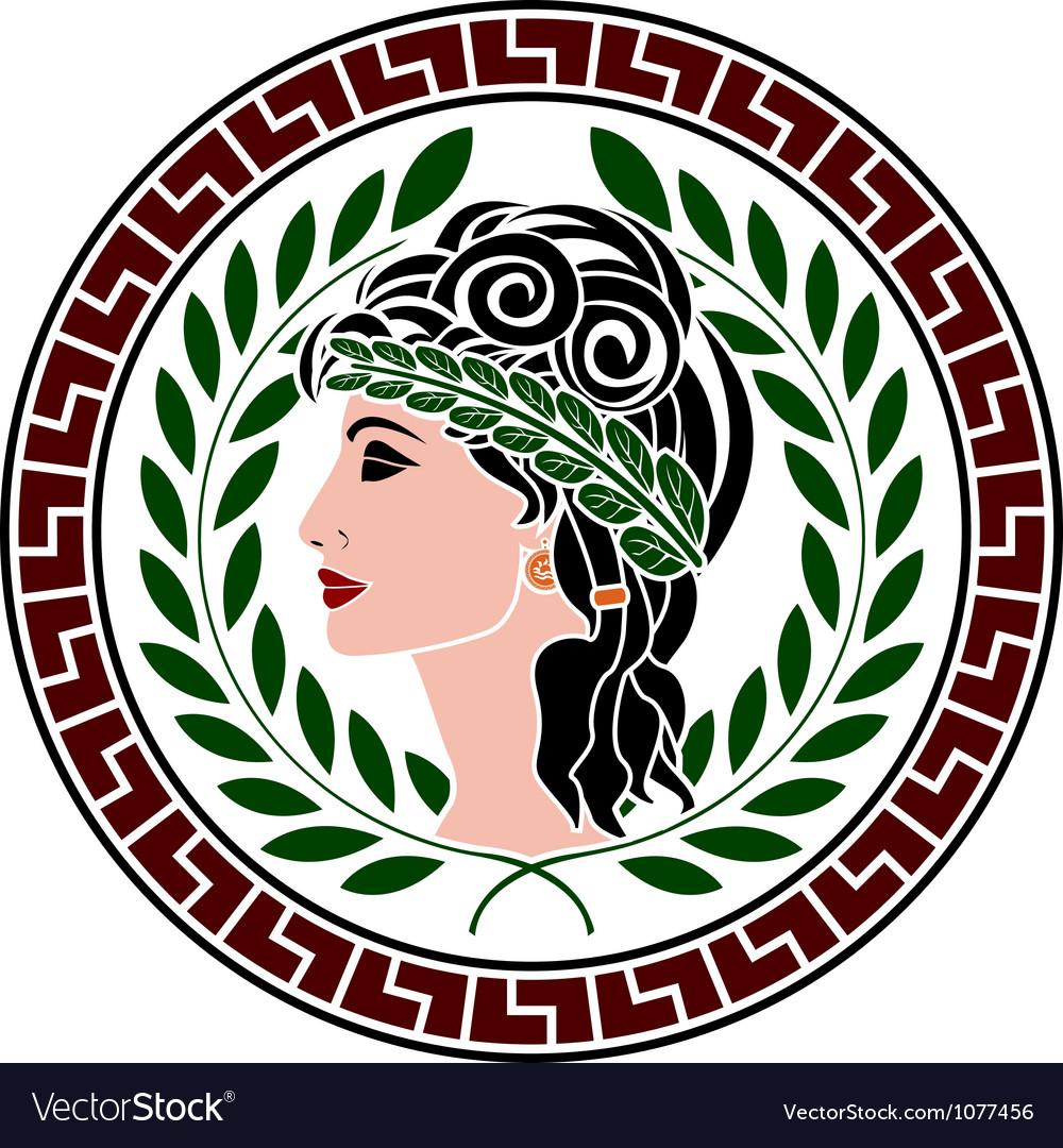 Patrician women stencil second variant vector