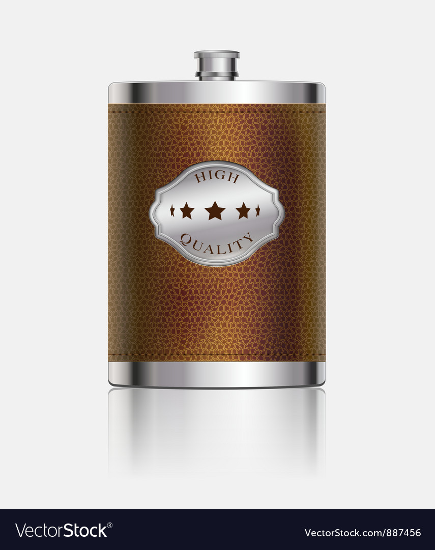 Stainless hip flask vector