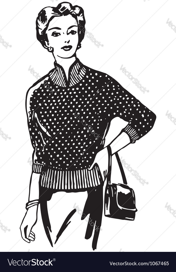 Beautiful fashionable girl vector