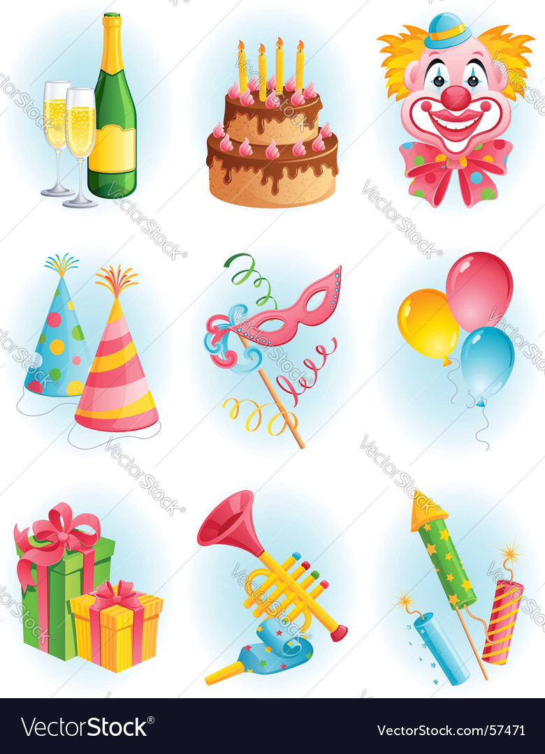 Celebration elements vector