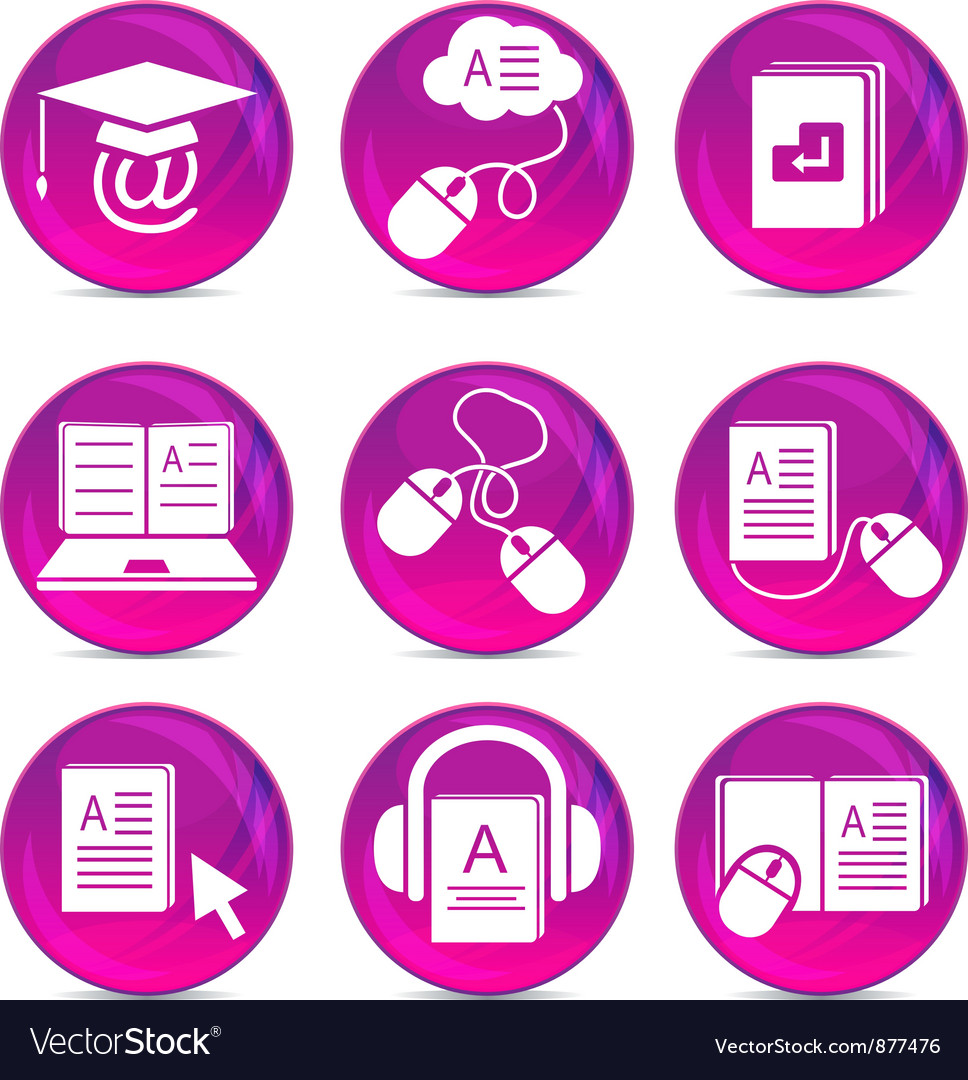 Modern education icons vector