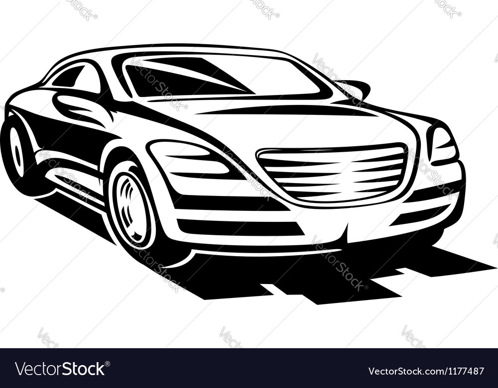 Abstract modern car vector