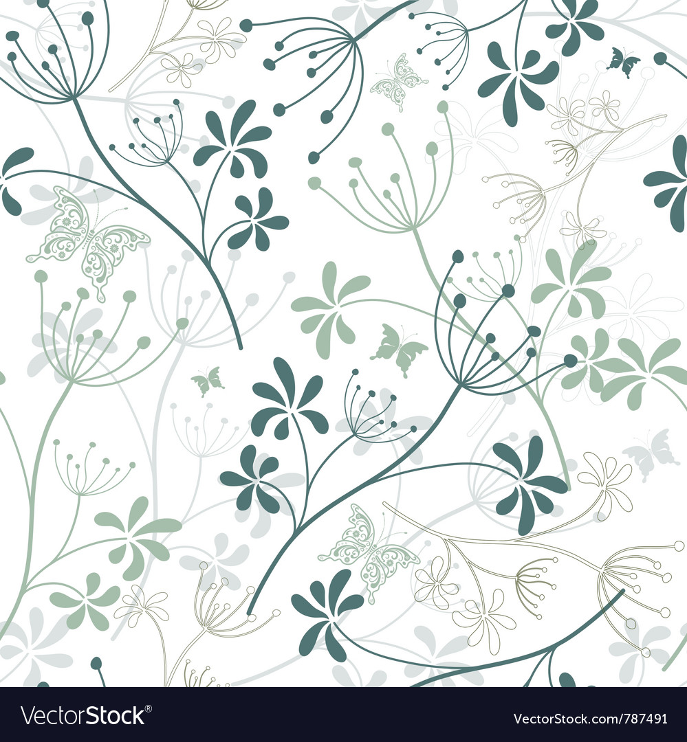 Green and white floral pattern - photo#15