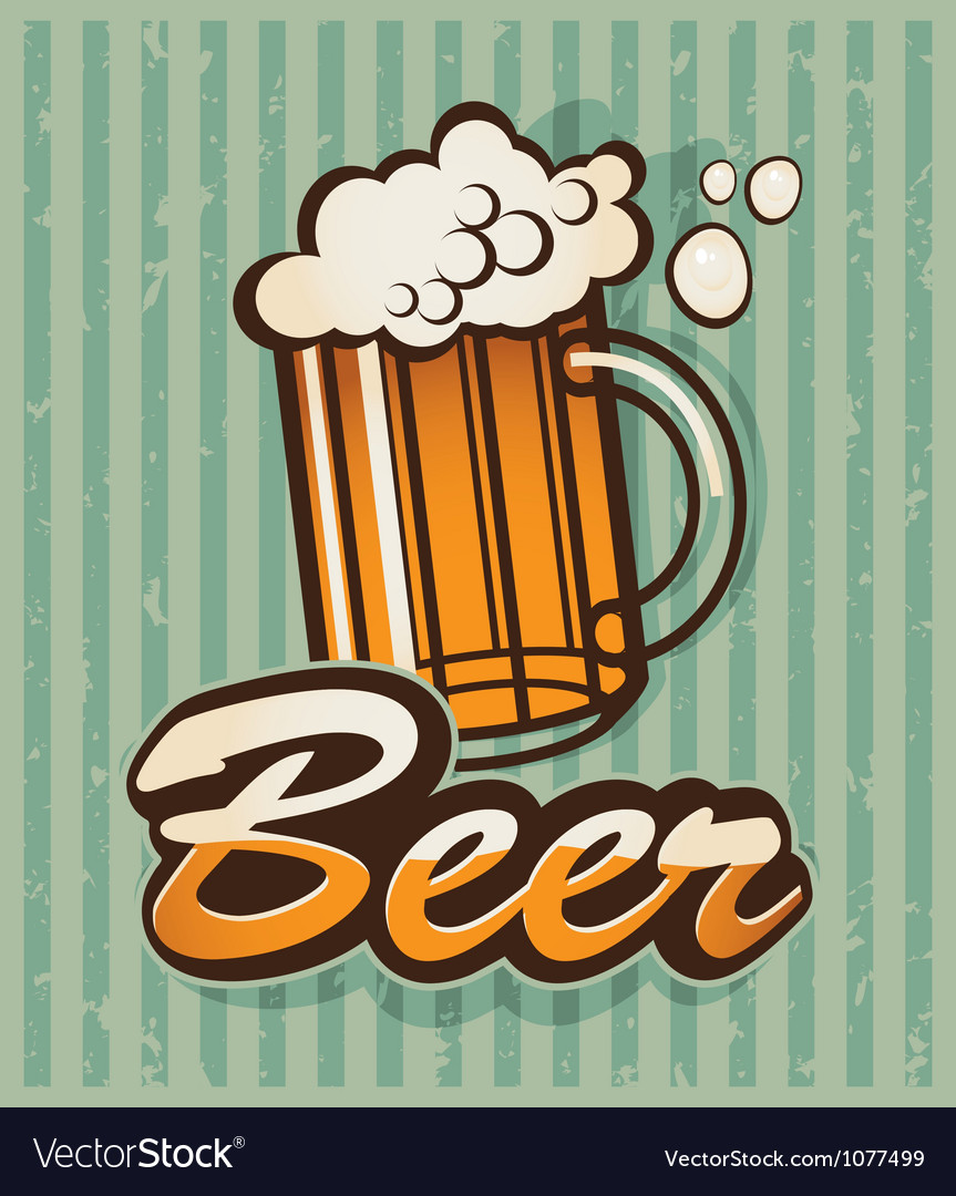 Retro beer vector