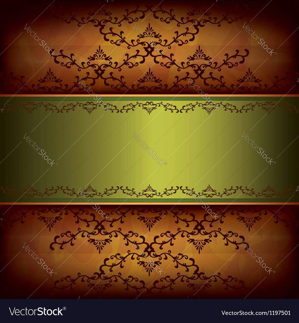 Grunge luxury background with decorative ornament vector
