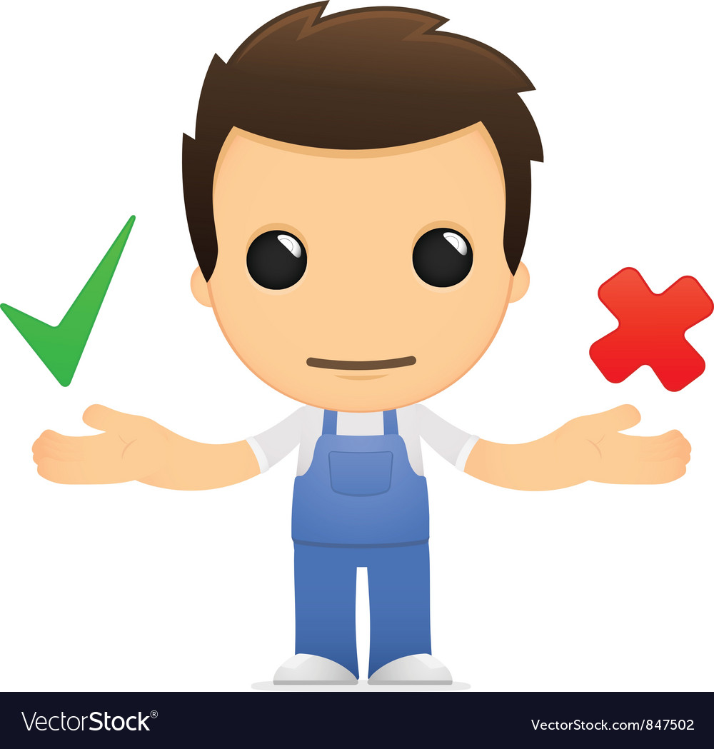 Funny cartoon mechanic vector
