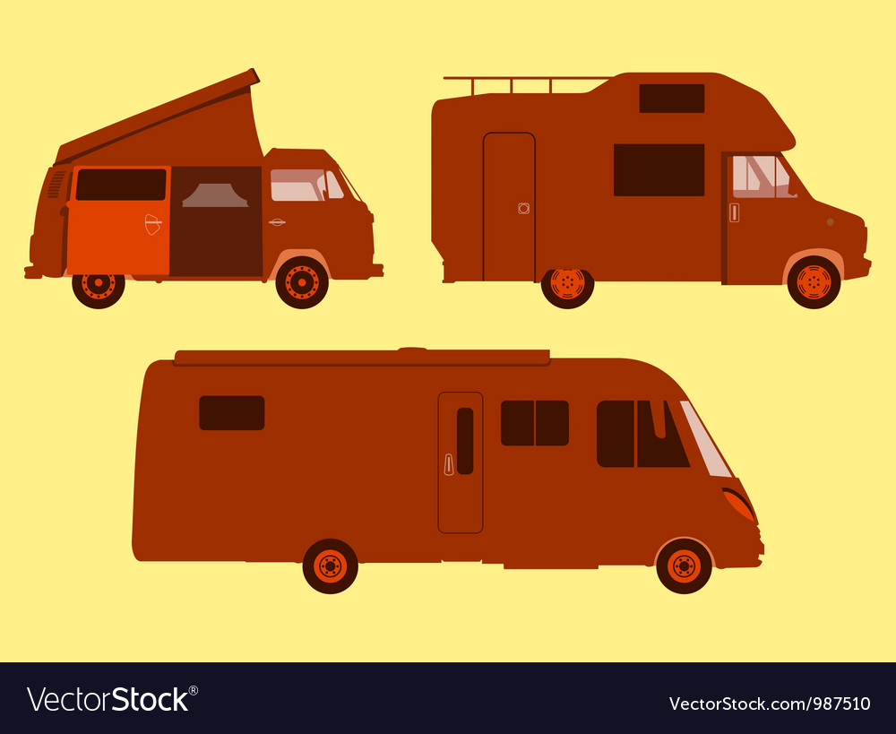 Motorhome silhouette vector