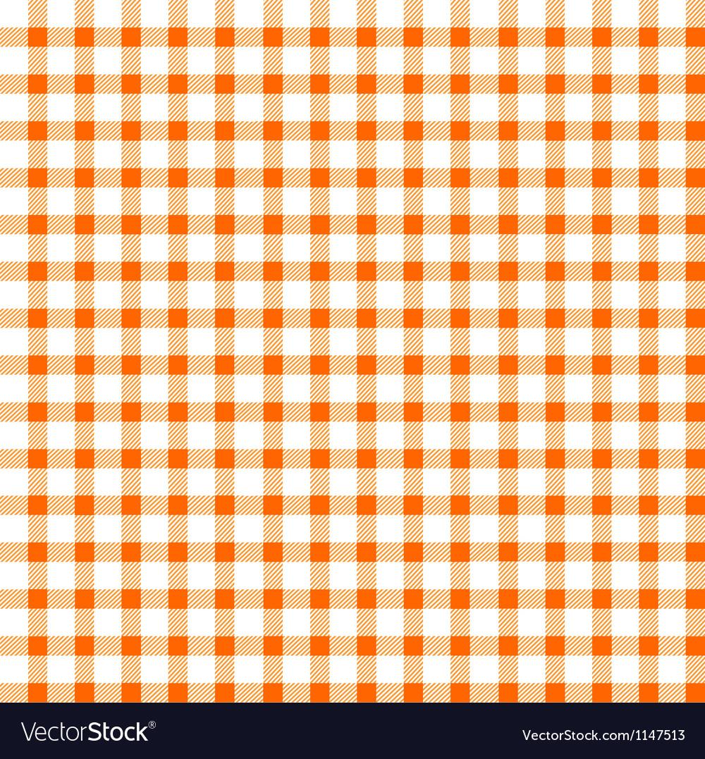 Seamless retro white-orange square tablecloth vector