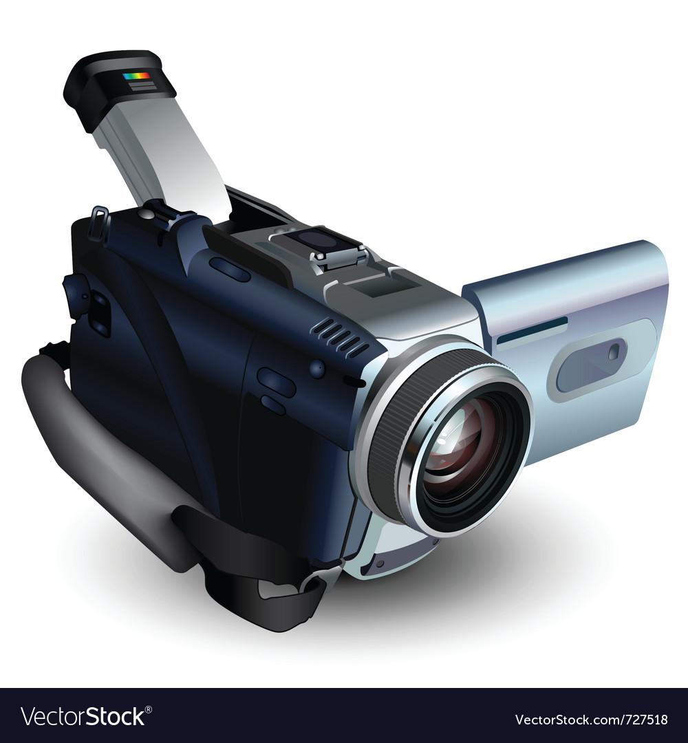 Camera video vector