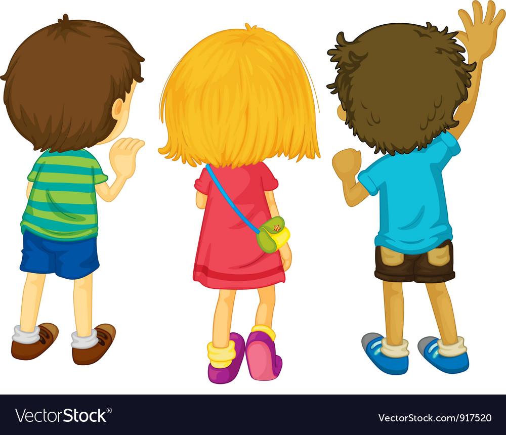 3 kids vector