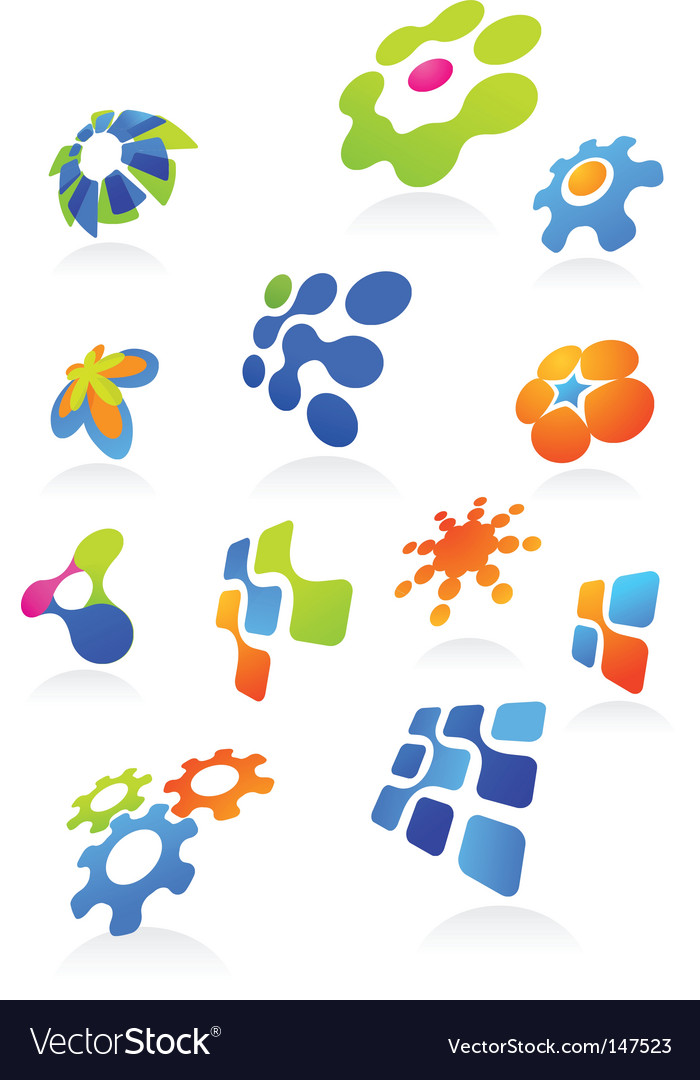 Icons and logos vector