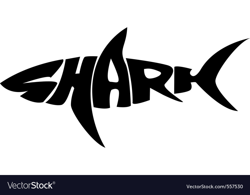 Shark typography vector