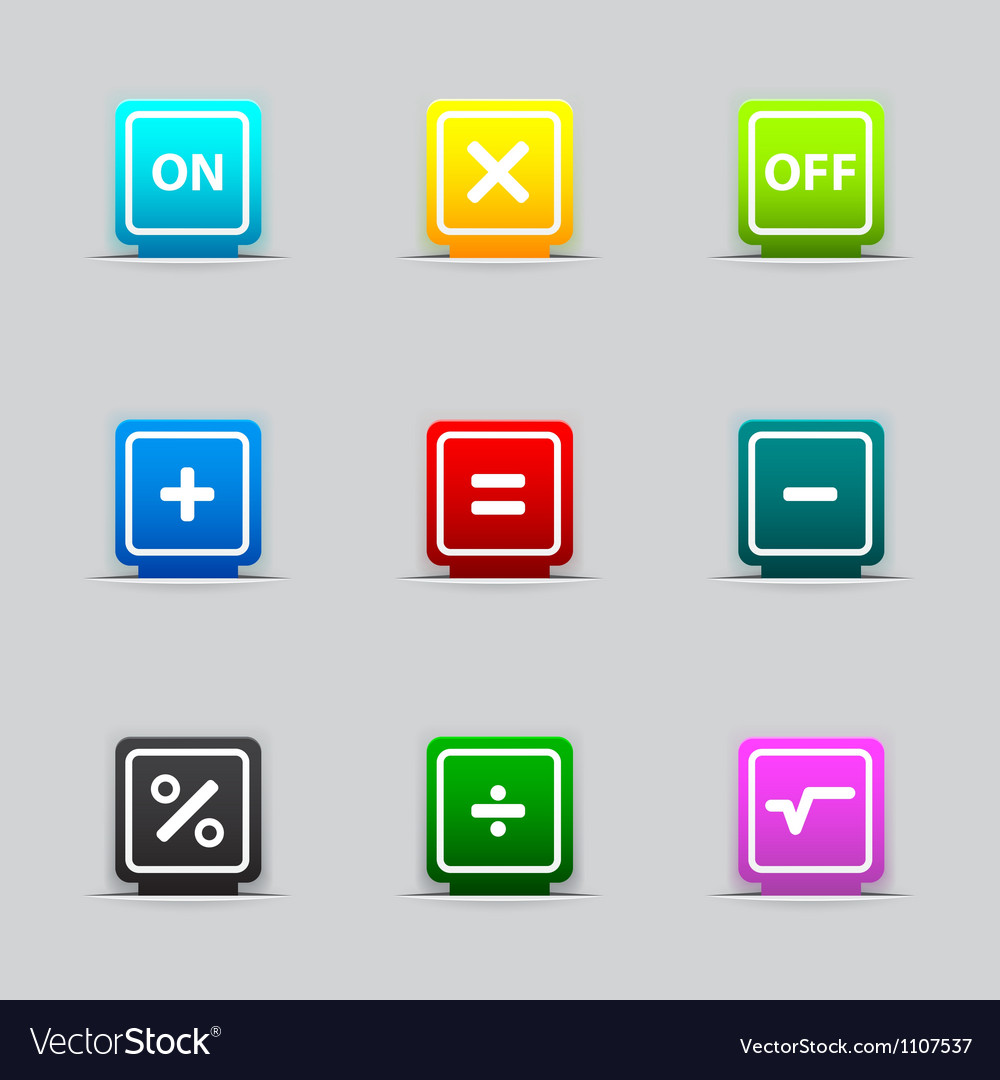 Bookmark with mathematical signs vector