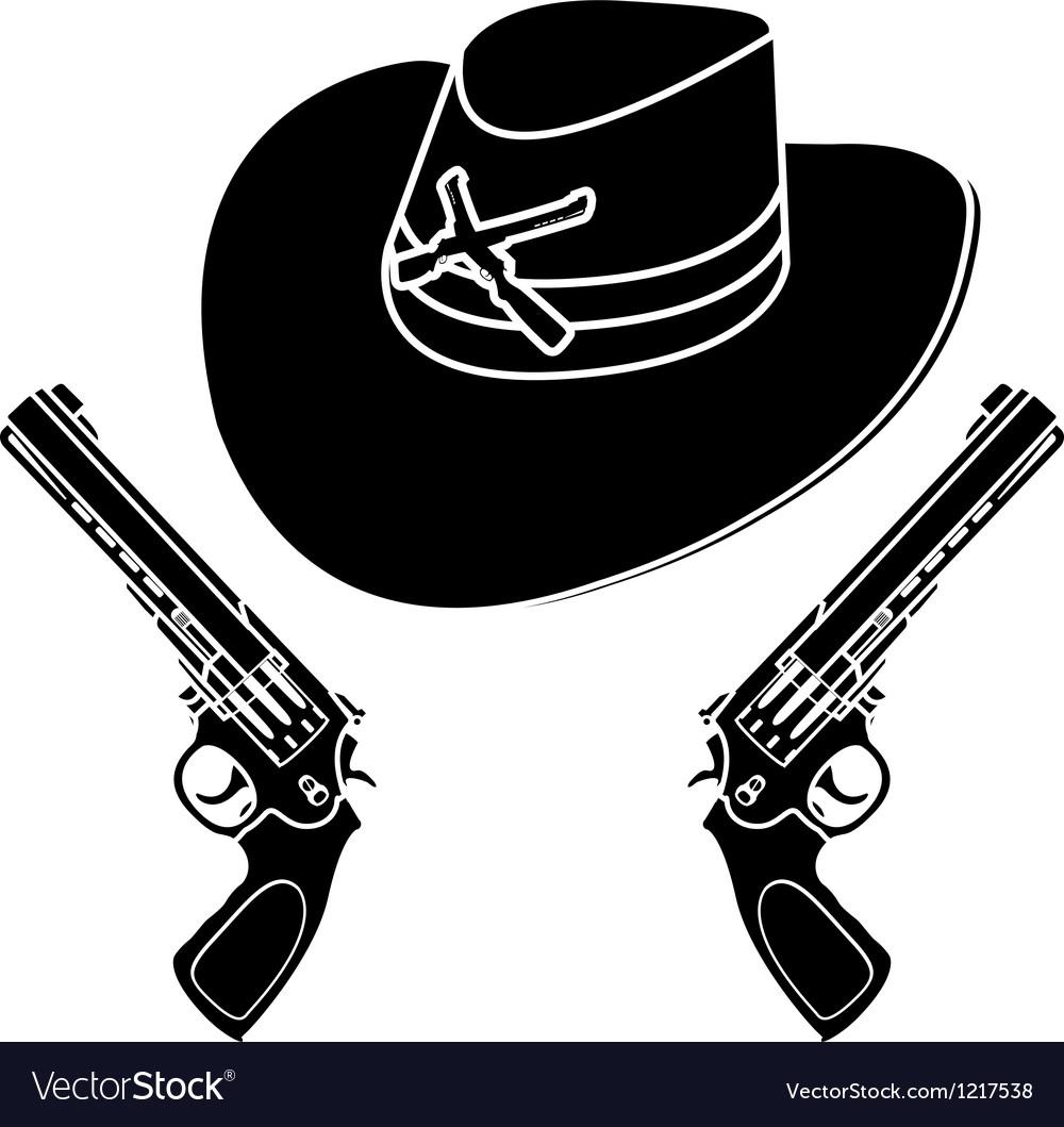 Cowboy hat stencil vector