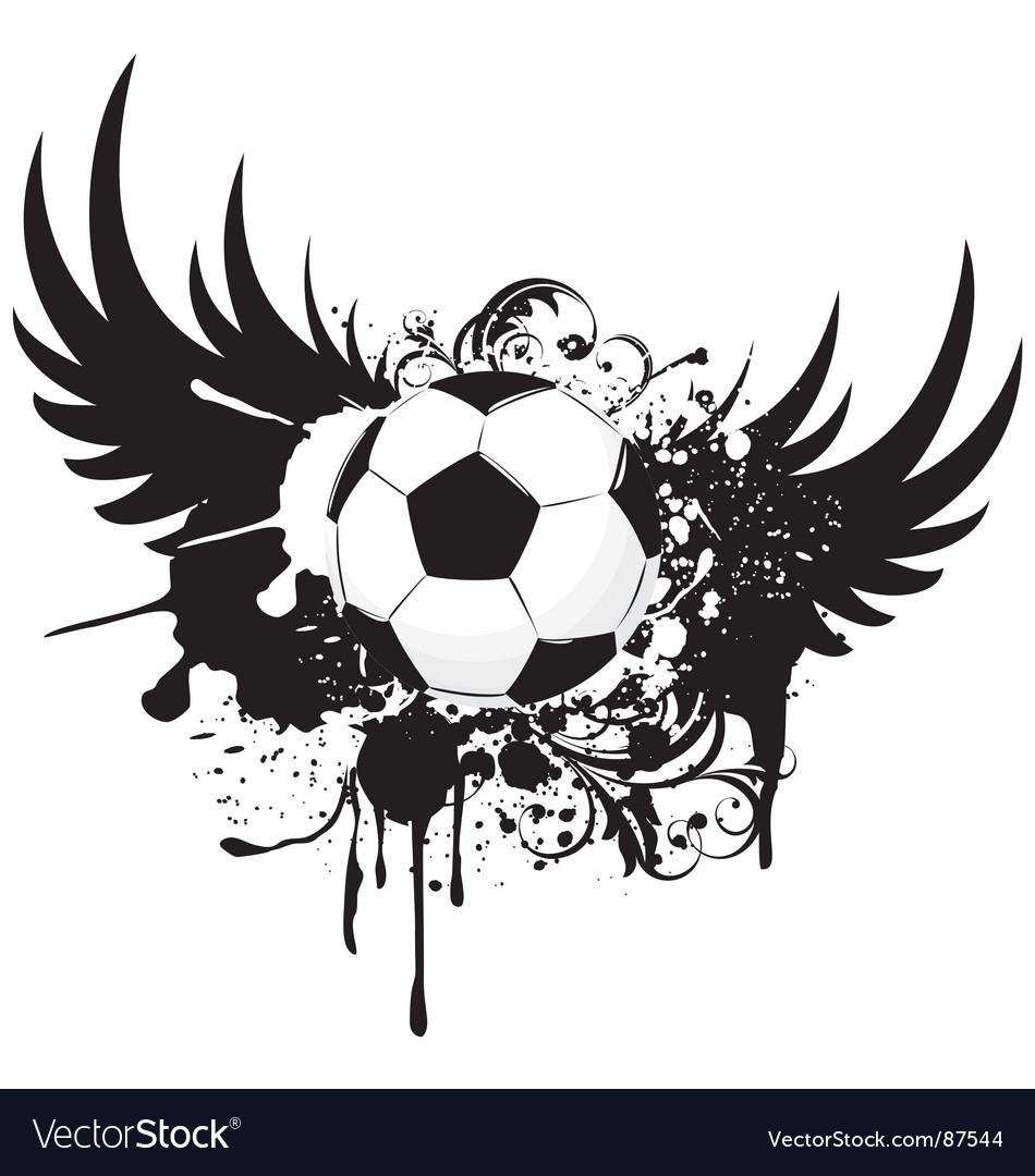 Soccer grunge emblem vector