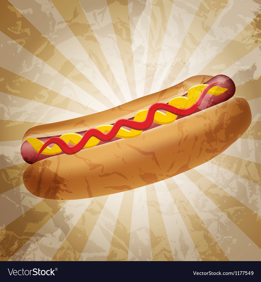 Realistic hot dog vector