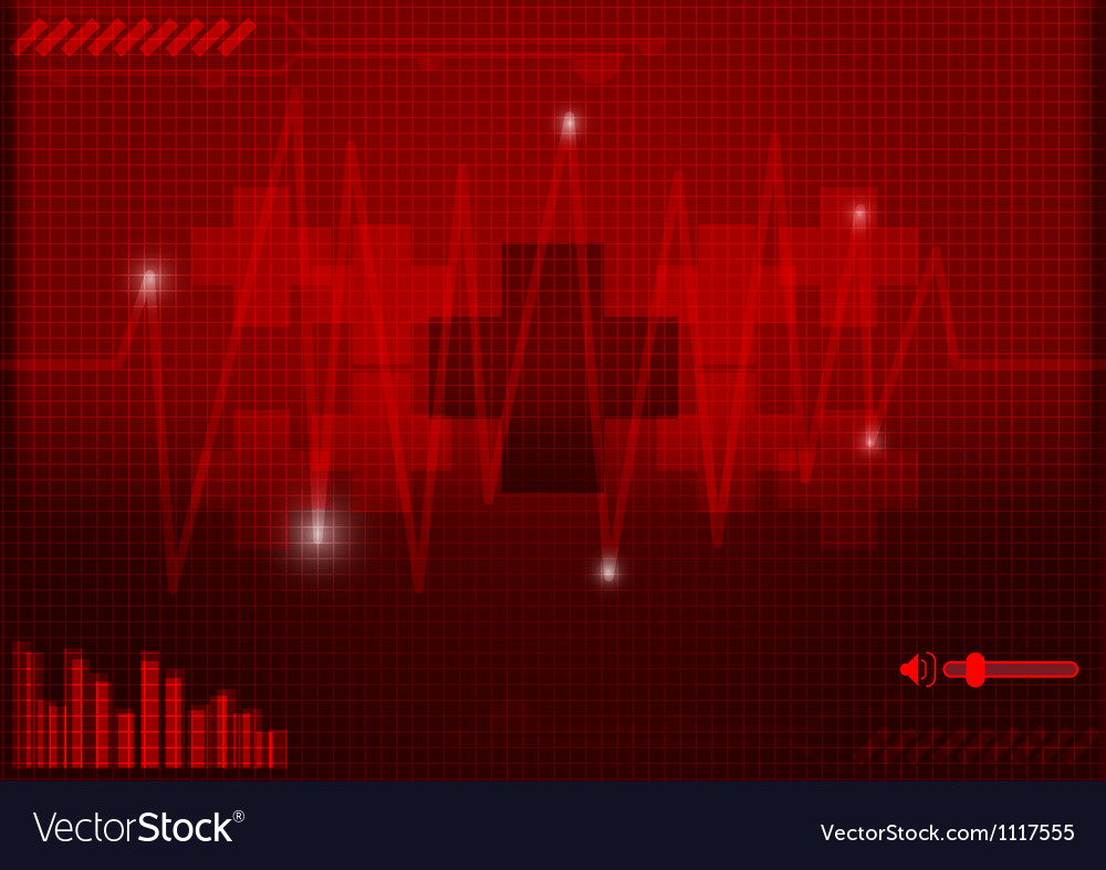 Icon nurse background of technology concept vector