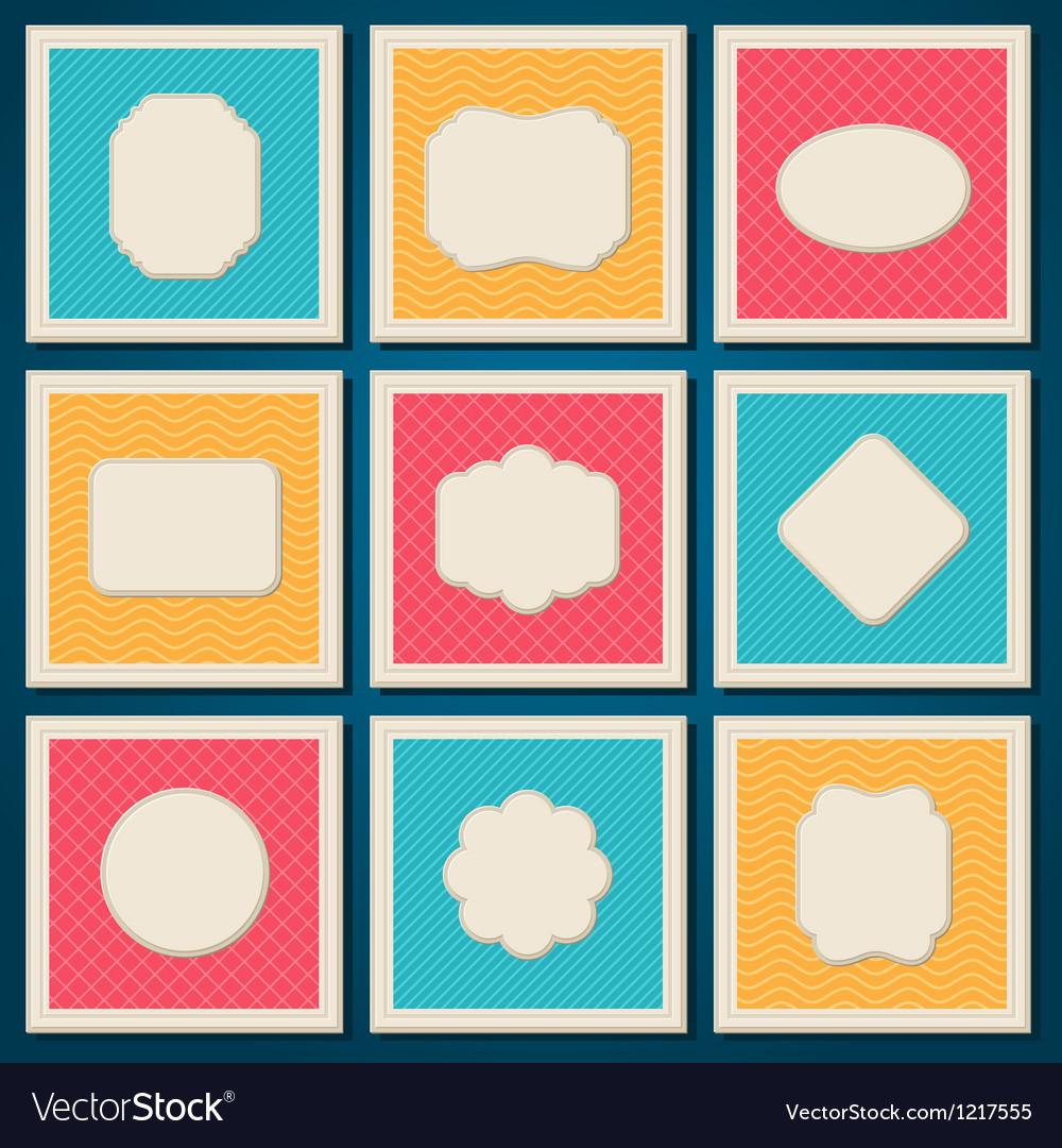 Vintage patterned cards templates set vector