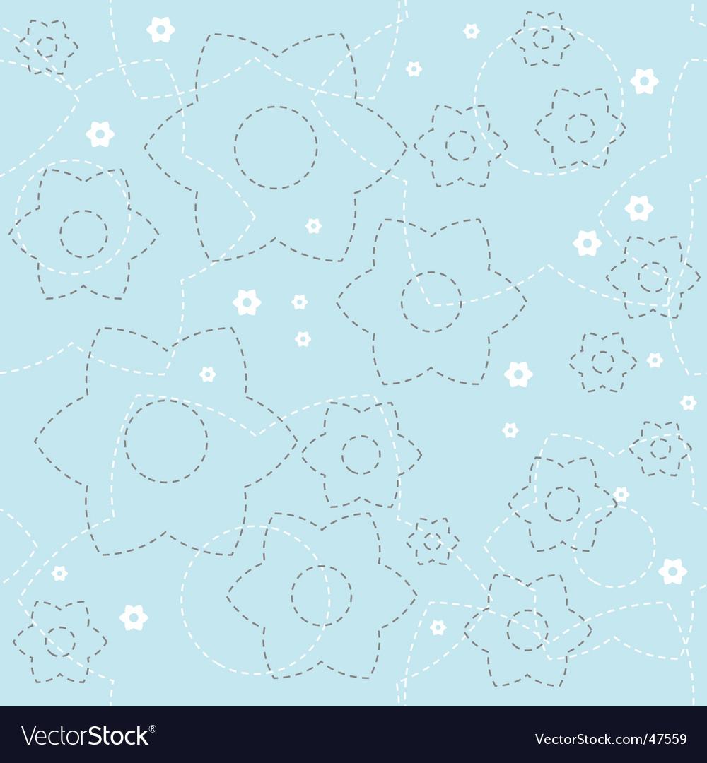 Floral wallpaper pattern vector