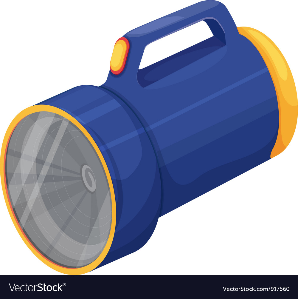 Torch on white vector