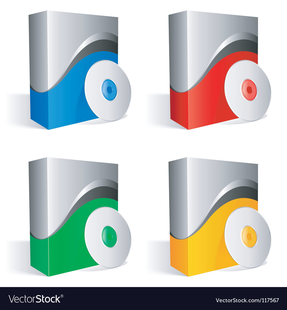 Software boxes vector
