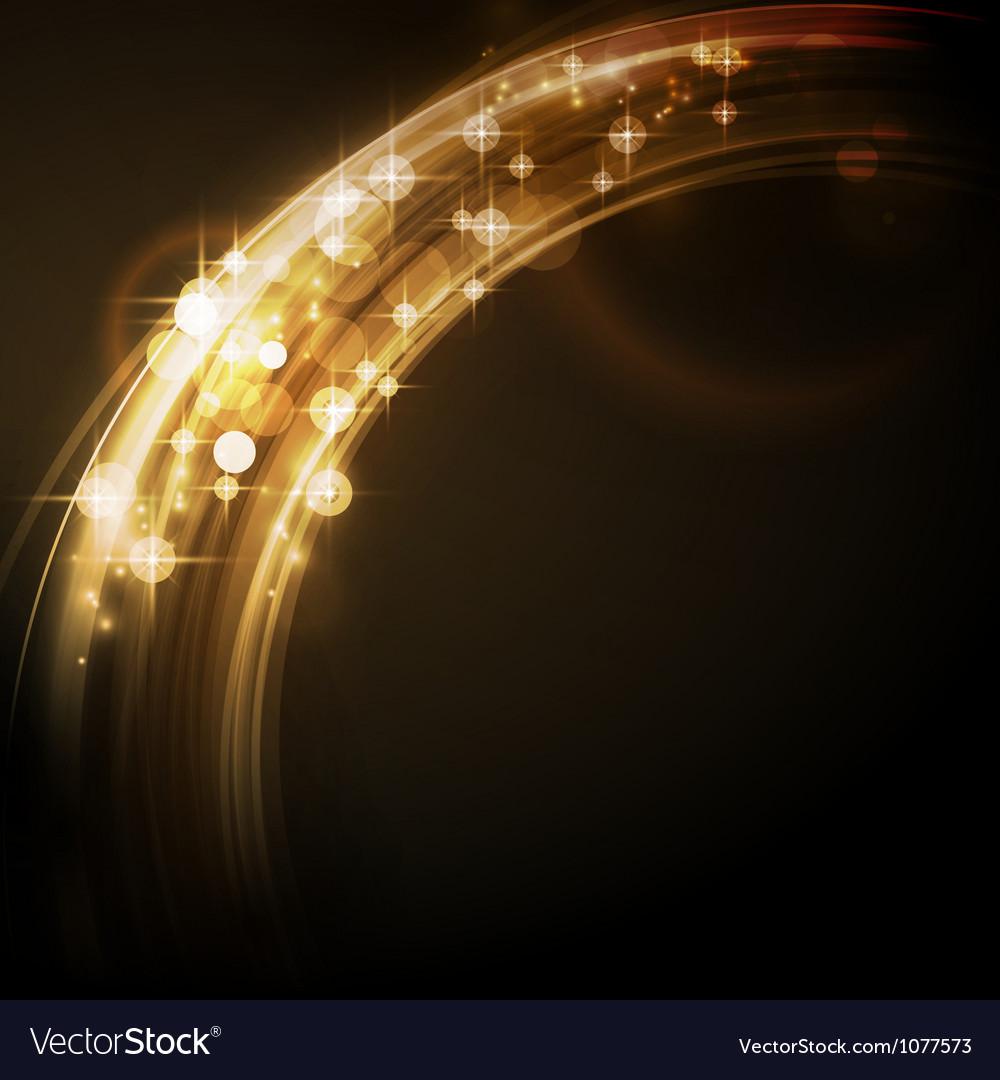 Abstract circular light border with stars vector
