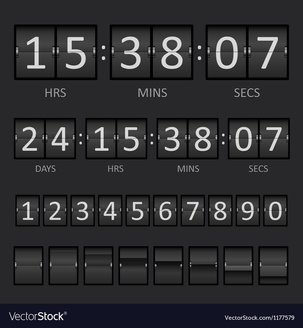 Scoreboard countdown timer vector