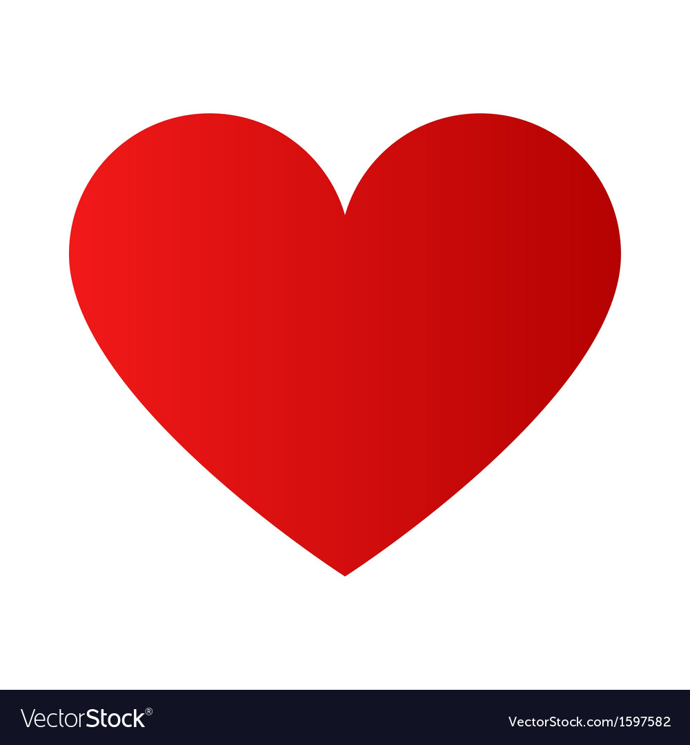 Red heart symbol vector