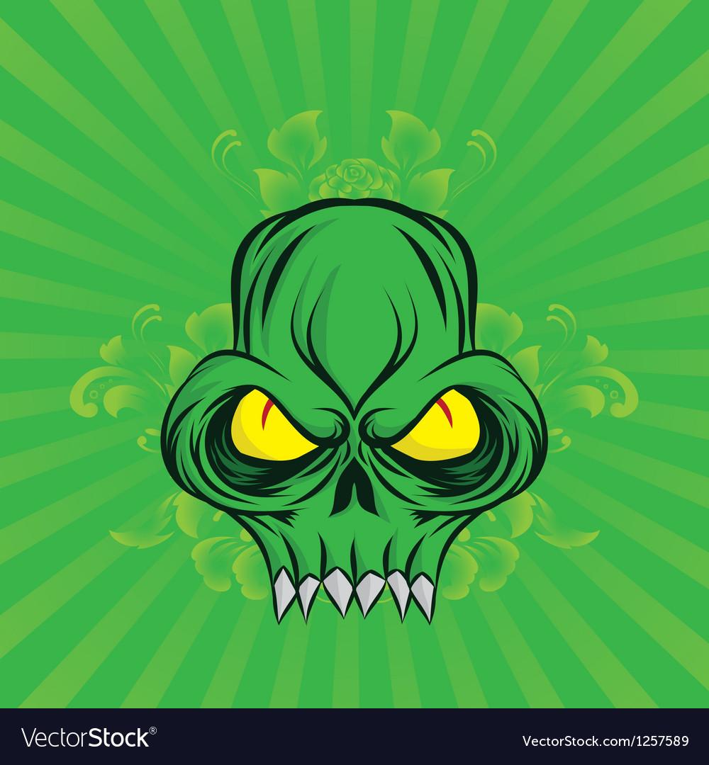 Green-skull vector