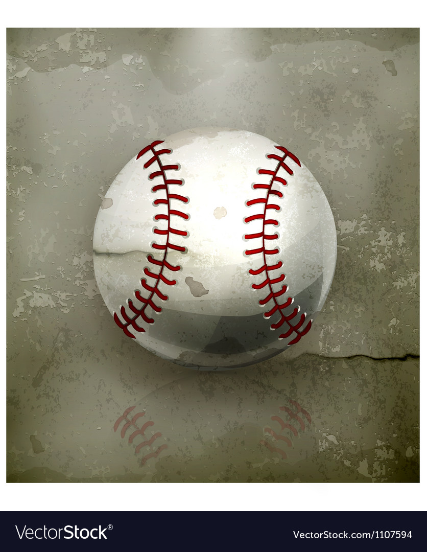 Baseball old-style vector