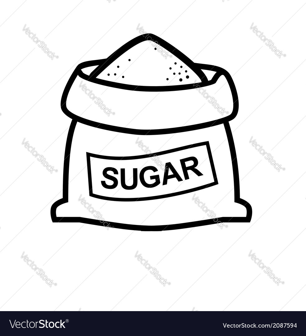 Sugar bag vector by bioraven - Image #2087594 - VectorStock