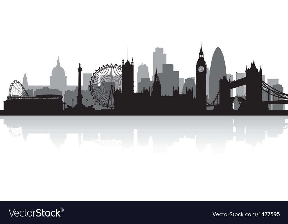 London city skyline silhouette vector