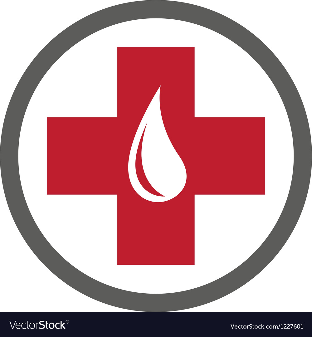 Blood donation emblem template vector