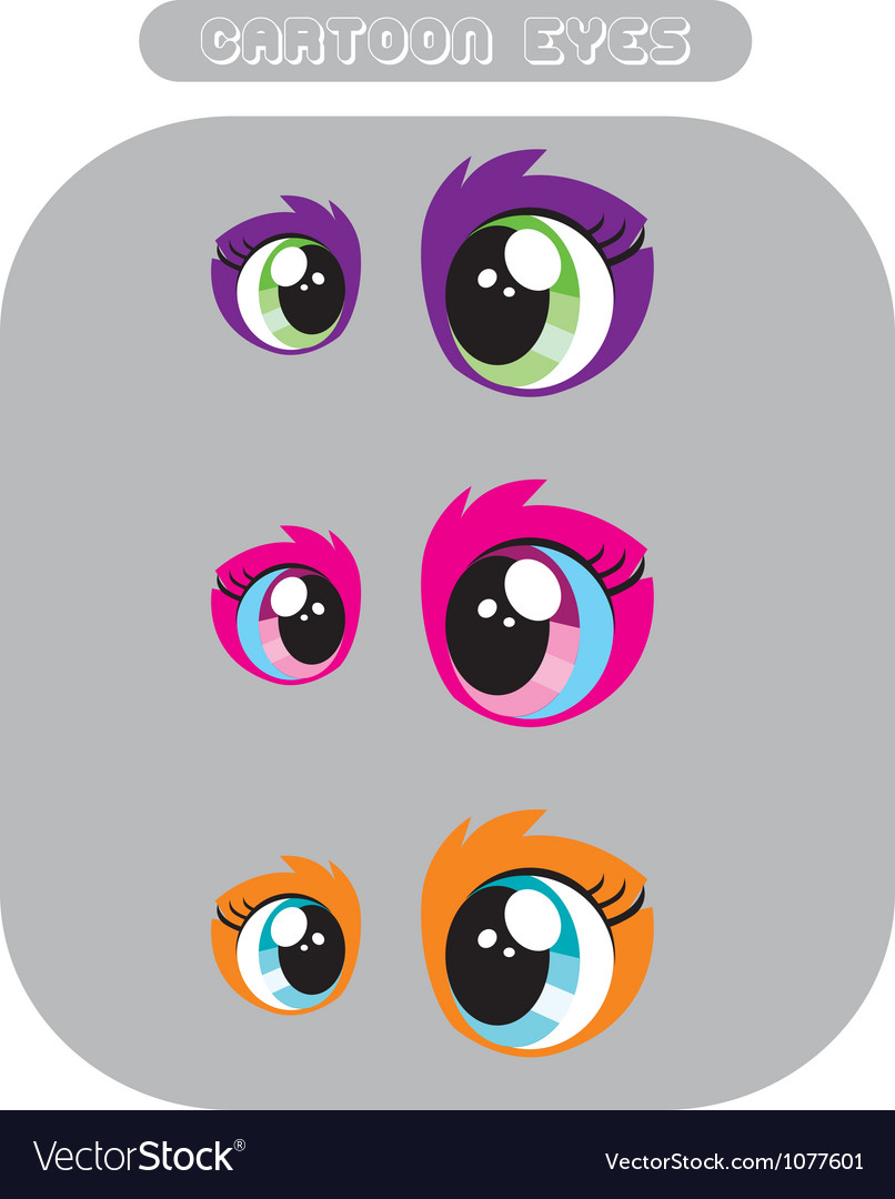 Free cartoon eyes vector